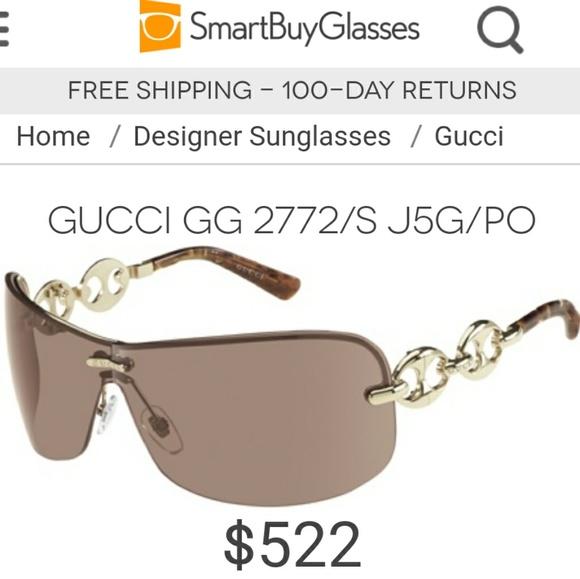 997a0f091 Gucci Accessories | Auth 2772s Wrap Shield Sunglasses | Poshmark